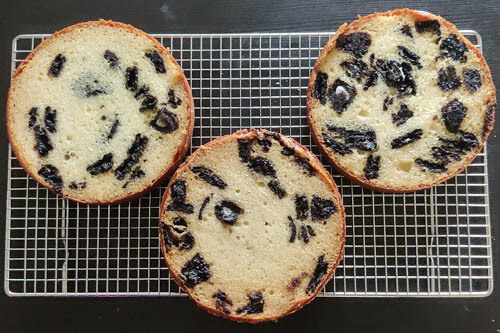 oreo biscuit cake - 3 baked cakes