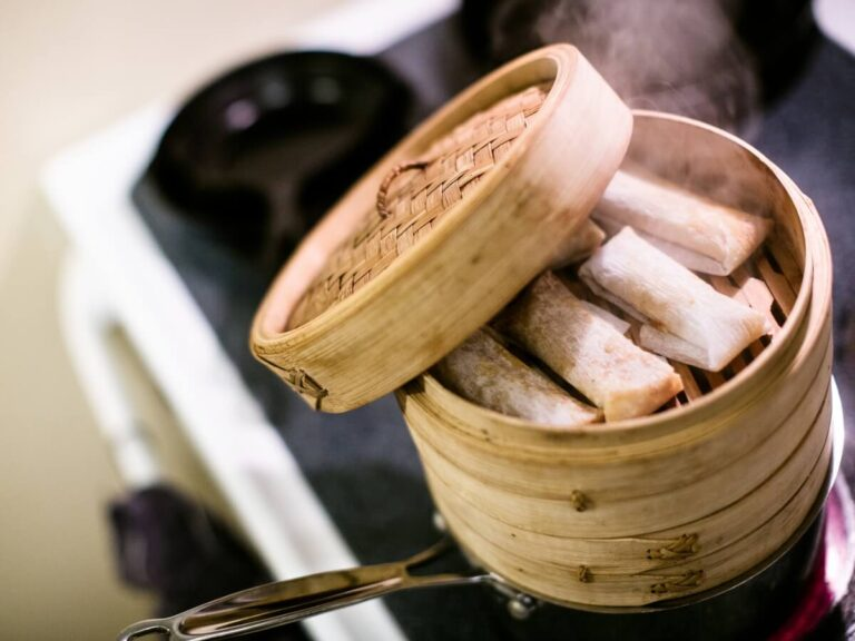 tamales being steamed over stove top
